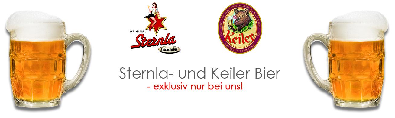 Exklusiv bei Getränle Gabriel - Sternla- und Keiler Bier